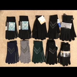 NWT Wholesale Lot Isotoner Knit Gloves